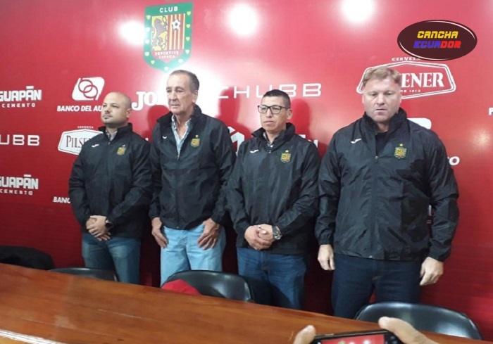 Luis Soler, presentado oficialmente como técnico de Deportivo Cuenca