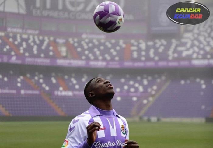 Stiven Plaza, fue presentado oficialmente en el Real Valladolid