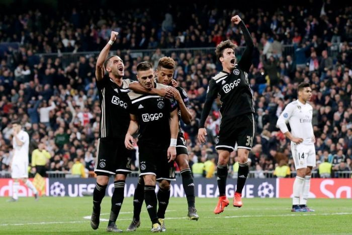 Ajax da el golpe y elimina al Real Madrid de la Liga de Campeones