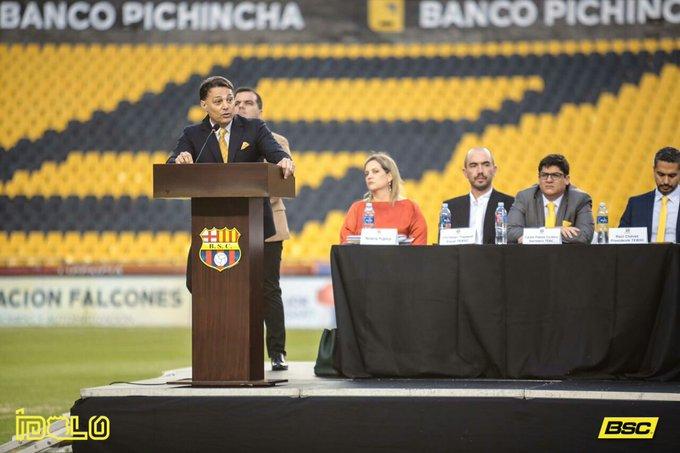 Carlos Alfaro Moreno fue posesionado como nuevo presidente de Barcelona |  Cancha Ecuador